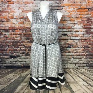Peter Som sheets dress abstract XL Sleeveless T-10